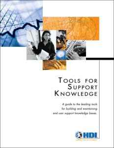 Tools for Support Knowledge